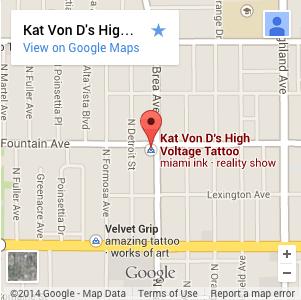 KAT VON D'S HIGH VOLTAGE TATTOO map image